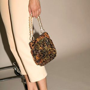 Fashion Casual Special Leopard Print Small Hand Bag