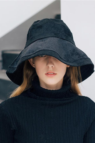 Fashion Casual Corduroy Plain Bucket Hat