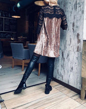 Load image into Gallery viewer, Fashion Casual Sexy Lace Patchwork Pleated Dress With Underskirt Mini Dresses