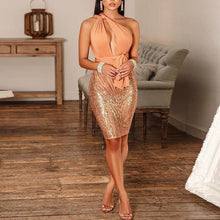 Load image into Gallery viewer, Casual Sequins Sleeveless High-Waist Bodycon Dresses