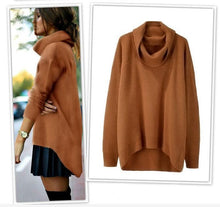 Load image into Gallery viewer, Casual Fashion High Collar Long Sleeves Slim Plain Sweater