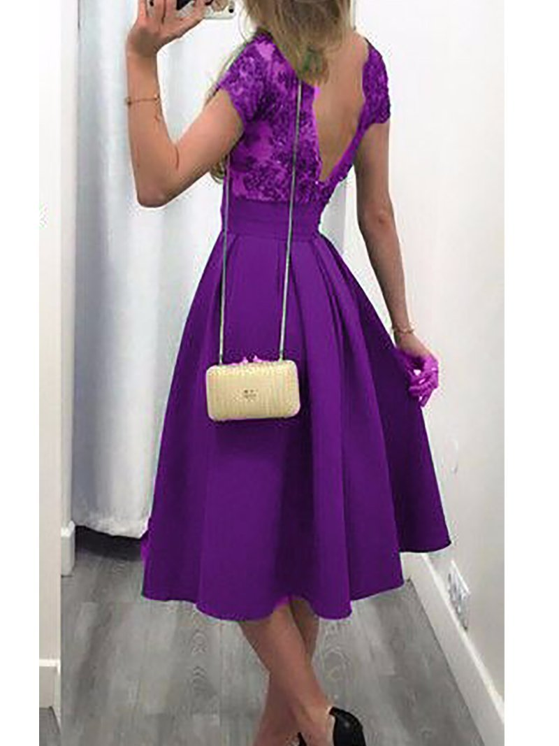 Fashion Bare Back Splicing Pure Colour Maxi Dresses