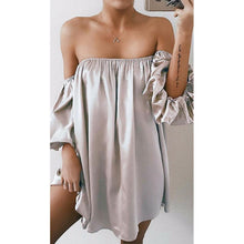 Load image into Gallery viewer, Sexy Off-Shoulder Pure Colour Long Sleeve Evening Shirt