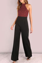 Load image into Gallery viewer, Fashion Sleeveless Sequins Splicing Jumpsuits