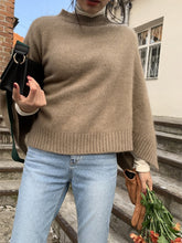 Load image into Gallery viewer, Casual Pure Colour Cloak Knitted Sweater