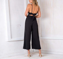 Load image into Gallery viewer, Casual Show Thin Sexy   V Neck Sling Wide Leg Jumpsuit