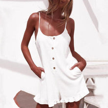 Load image into Gallery viewer, Spaghetti Strap  Single Breasted  Plain  Sleeveless  Playsuits