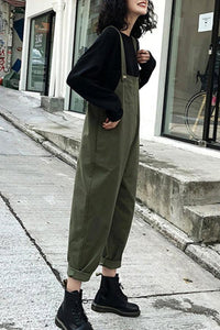 Casual Solid Color Loose Plain Jumpsuit