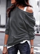 One-Shoulder Casual Soft Long Sleeve T-Shirt