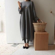 Load image into Gallery viewer, Fashion Casual Loose Thicker Knitted Maxi Dress