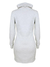 Load image into Gallery viewer, High Collar Long Sleeve Bodycon Dress