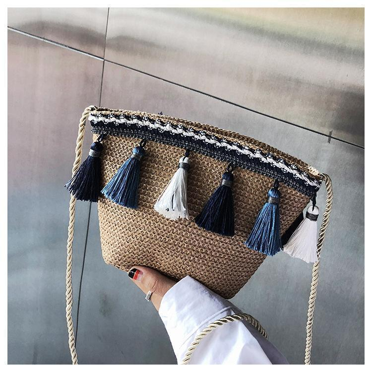 Ethnic wind braided chain messenger bag