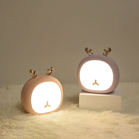 Table Lamp, Night Light, Little Deer Night Light, Bunny Stepless Dimmable Touch USB Charging