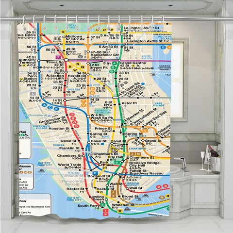 NYC Subway Map Shower Curtain 3800