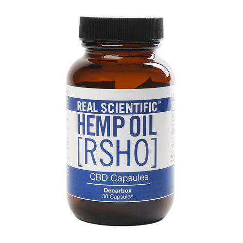 RSHO Blue Label 25 MG Decarbox CBD Capsules at www.releafapothecary.com