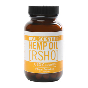 RSHO Gold Label 25 MG Filtered Decarbox CBD Capsules at www.releafapothecary.com