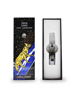 canna hemp snow dawg cbd oil vape cartridge