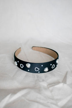 Kid's Pearl Heart Headband