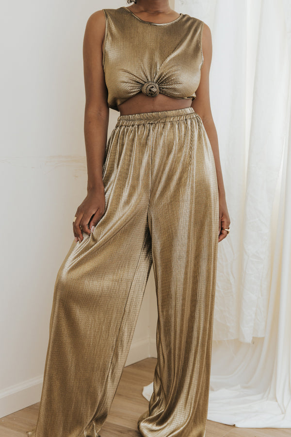 Metallic Gold Two Piece (XS)