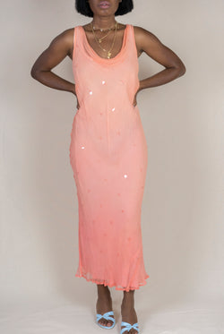 Layered Ombre Silk Dress (S/M)