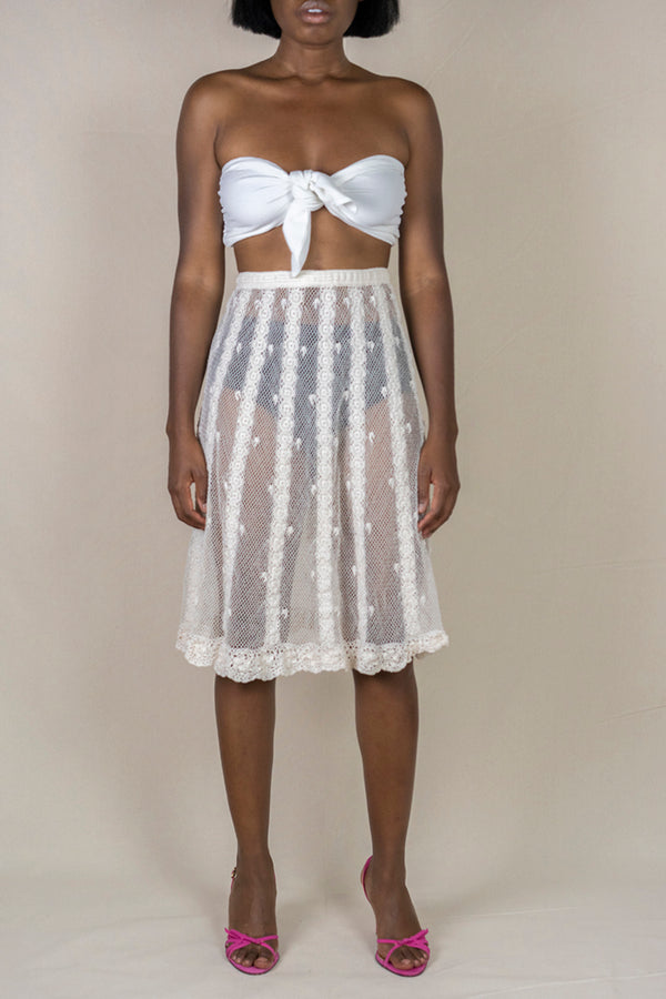 Sheer Crochet Skirt (S/M)