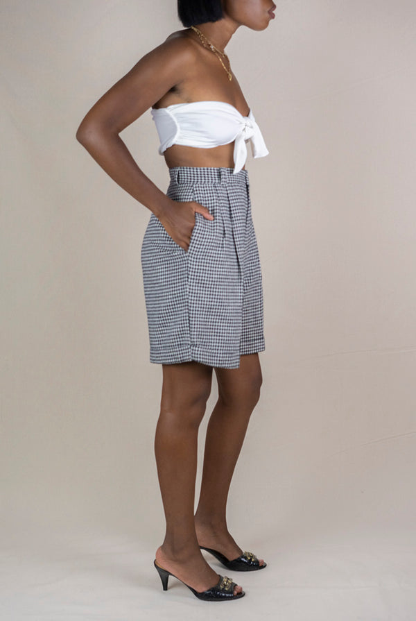 Houndstooth Print Shorts- 90's (M)