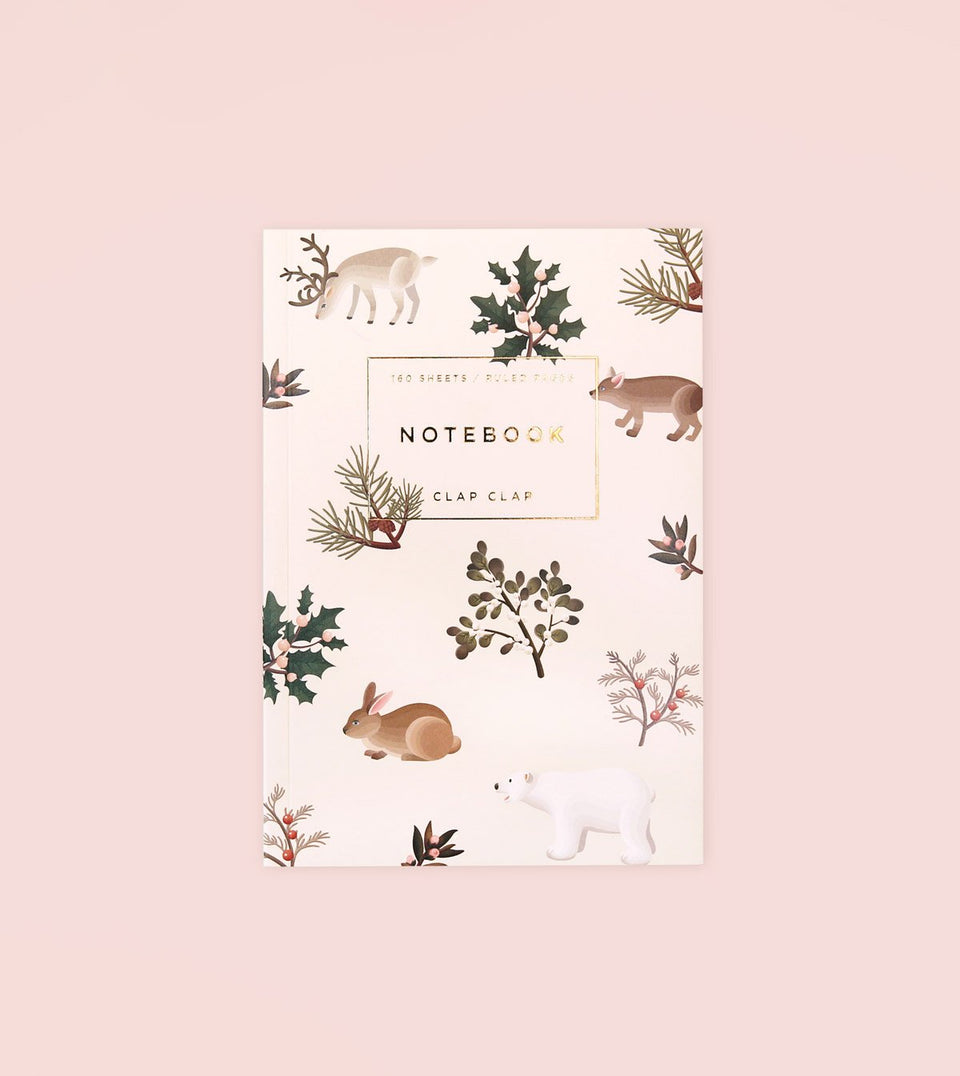 WILD ANIMALS NOTEBOOK - CREAM