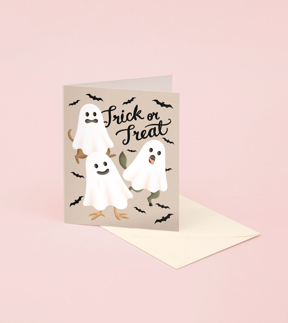 ANIMAL GHOSTS HALLOWEEN CARD - GM26 - Clap Clap