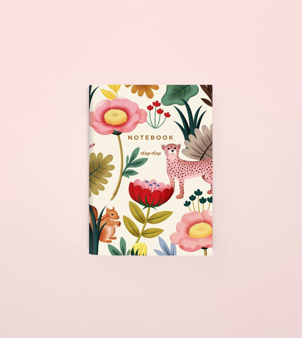 ANIMAL KINGDOM POCKET NOTEBOOK - CREAM - NP02 - Clap Clap