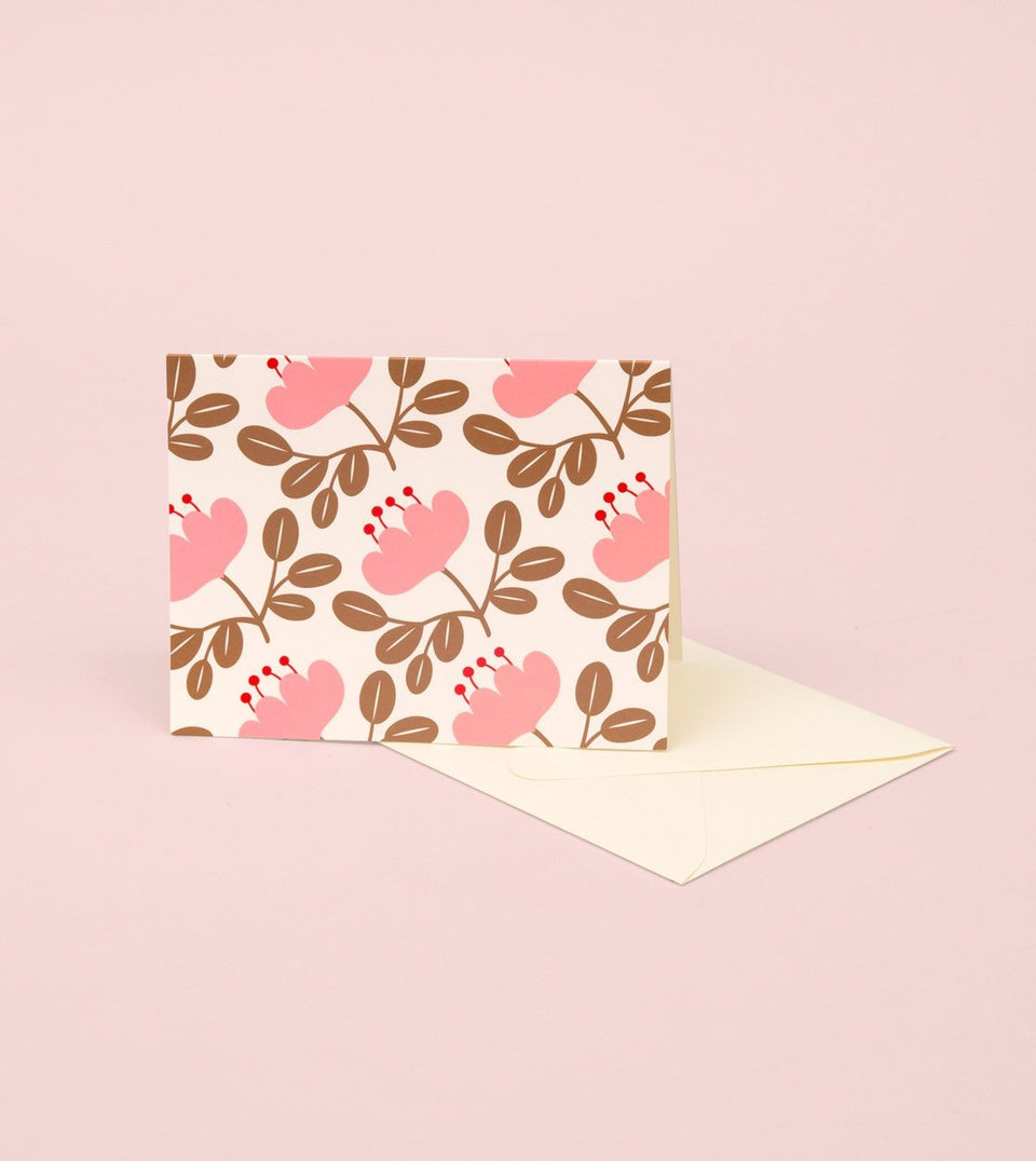 BLOSSOM GOLD GREETING CARD - PINK PETAL - GM29-K - Clap Clap