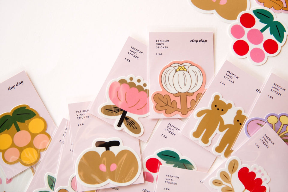 WATERPROOF FLOWER AESTHETIC STICKER - BLUSH PEONY - STK09 - Clap Clap