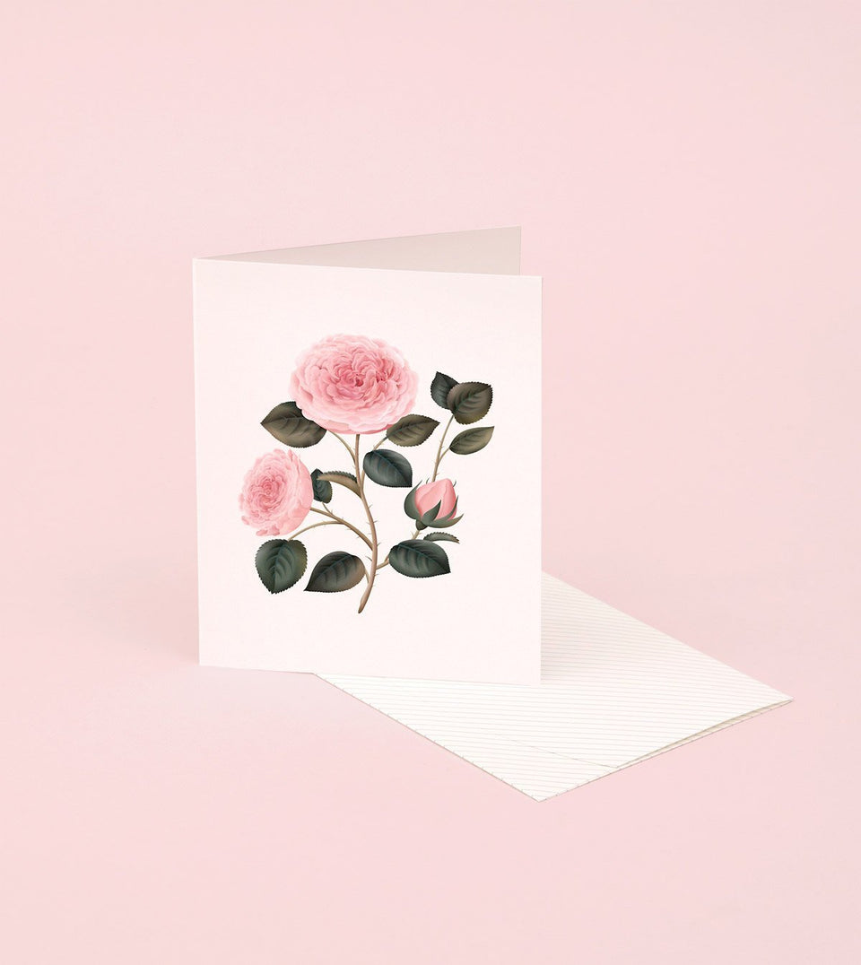 BOTANICAL SCENTED CARD – BULGARIAN ROSE - SG21 - Clap Clap