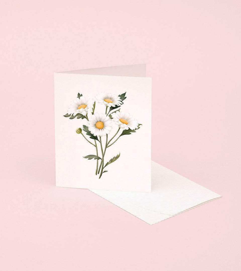 BOTANICAL SCENTED CARD – DAISY - SG23 - Clap Clap