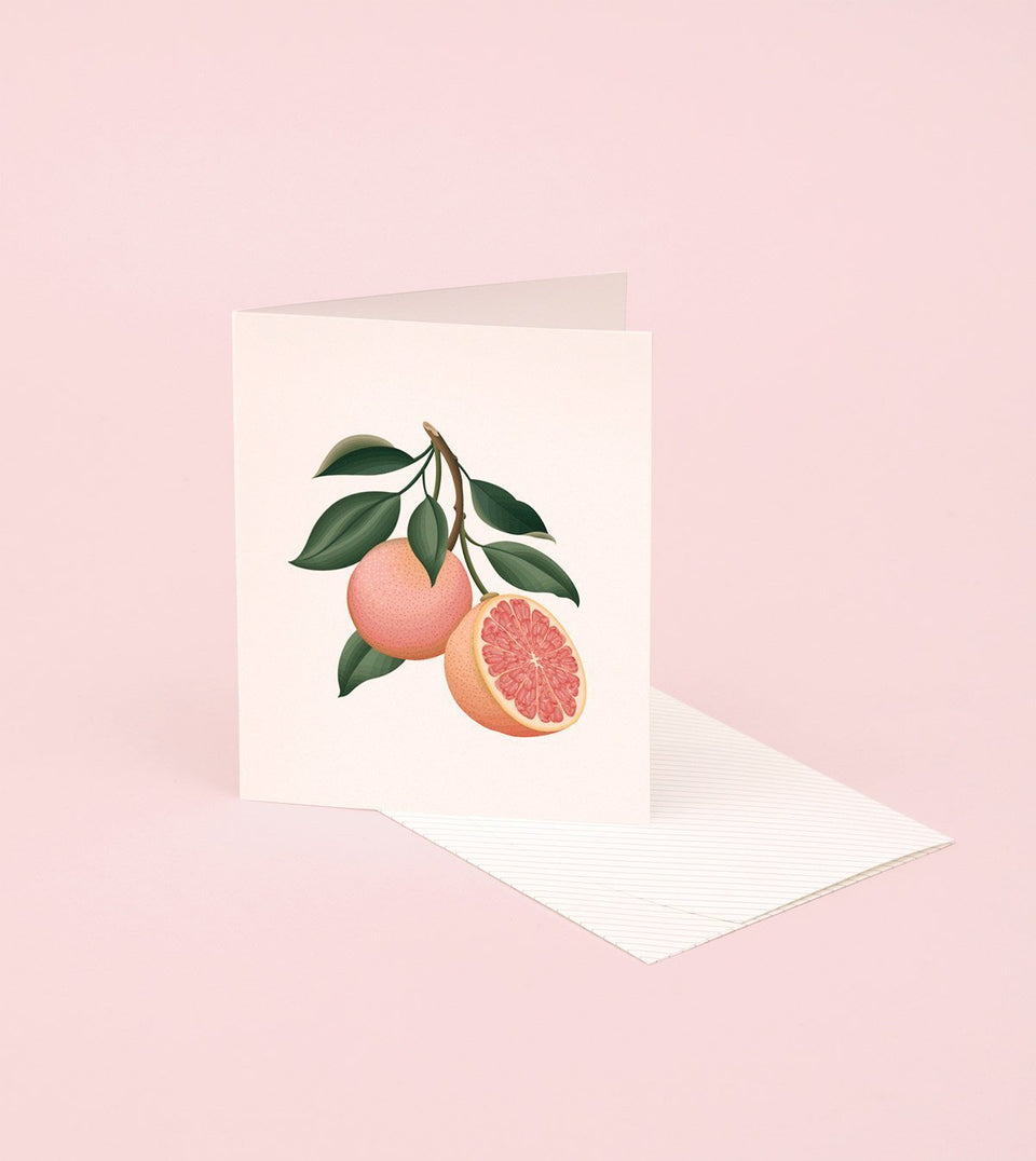BOTANICAL SCENTED CARD – GRAPEFRUIT - SG08 - Clap Clap