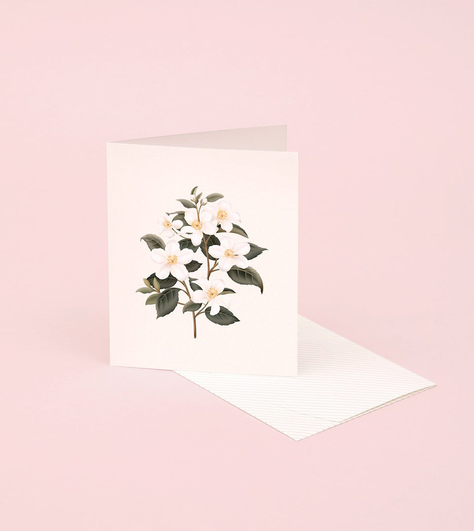 BOTANICAL SCENTED CARD – ORANGE BLOSSOM - SG20 - Clap Clap