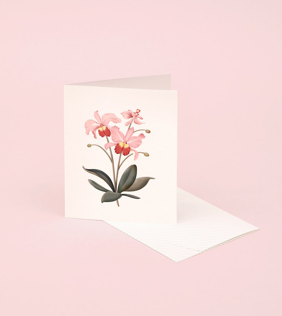 BOTANICAL SCENTED CARD – ORCHID - SG22 - Clap Clap