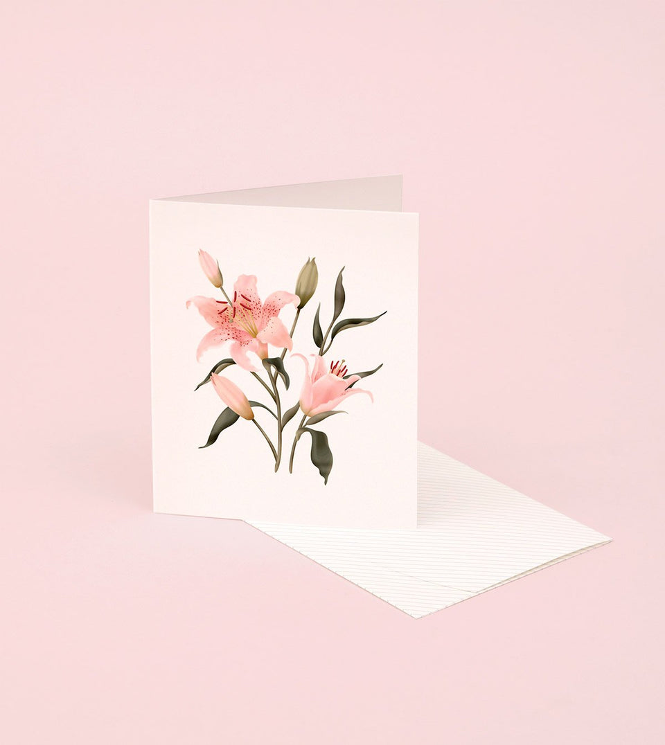 BOTANICAL SCENTED CARD – ORIENTAL LILY - SG17 - Clap Clap