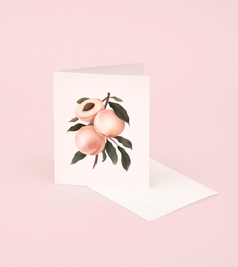 BOTANICAL SCENTED CARD – PEACH - SG19 - Clap Clap