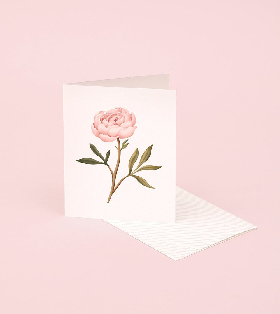 BOTANICAL SCENTED CARD – PEONY - SG11 - Clap Clap