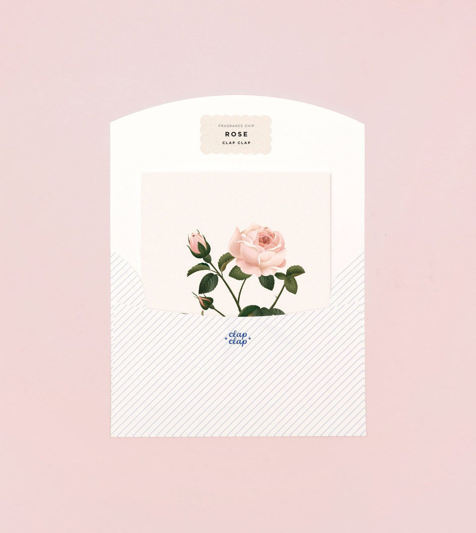 BOTANICAL SCENTED CARD – ROSE - SG06 - Clap Clap