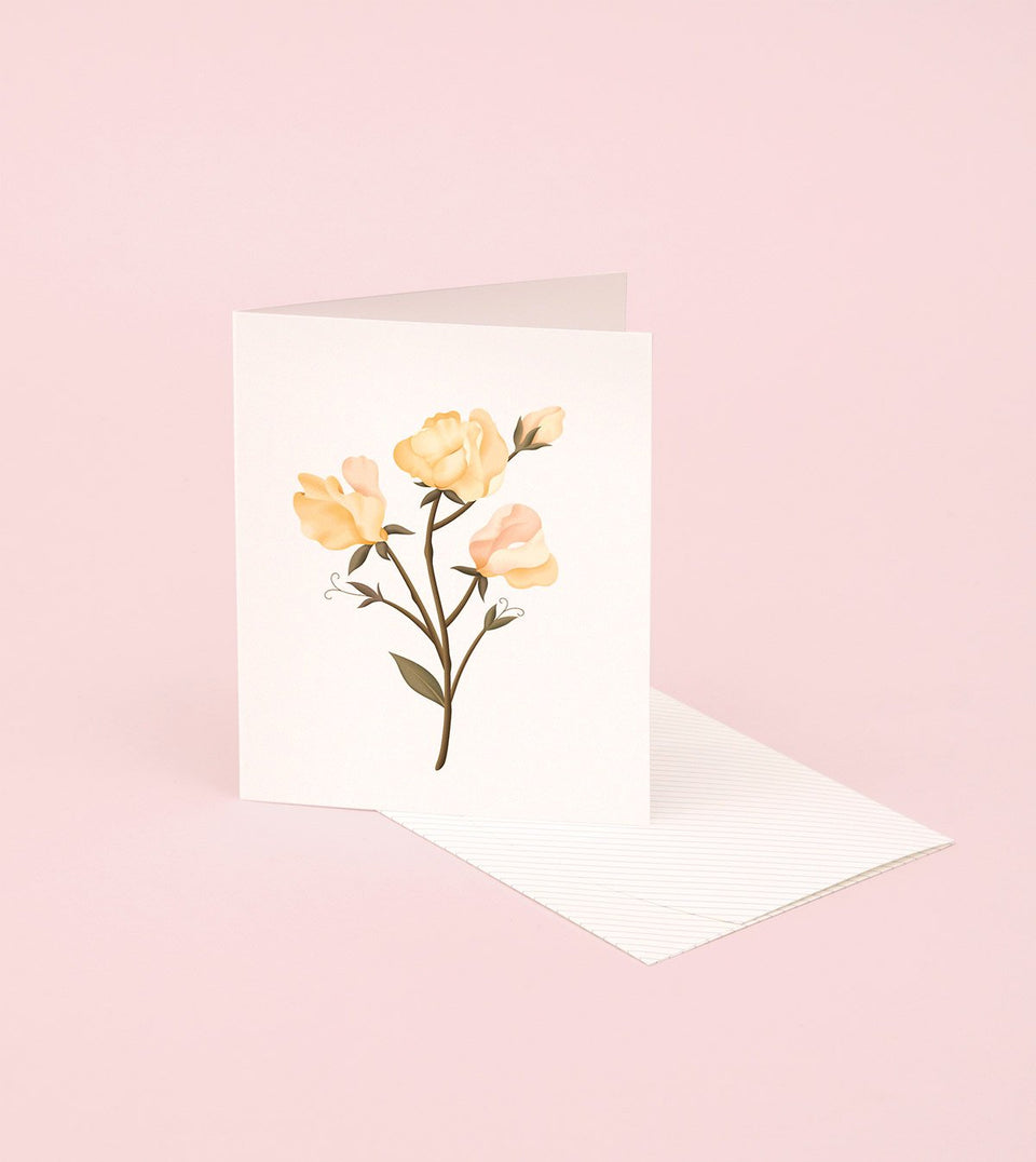 BOTANICAL SCENTED CARD - SWEET PEA - SG13 - Clap Clap