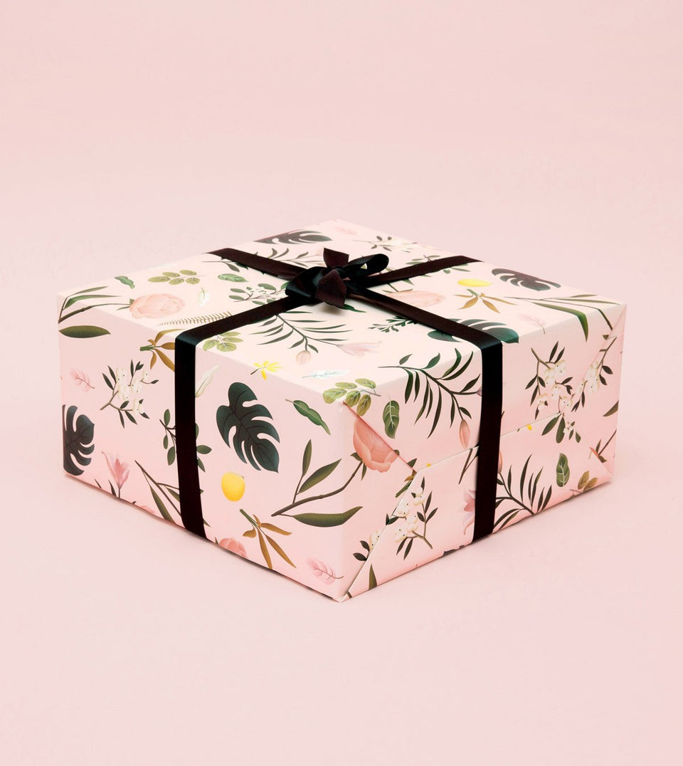 BOTANICAL WRAPPING PAPER - PINK - WR12 - Clap Clap