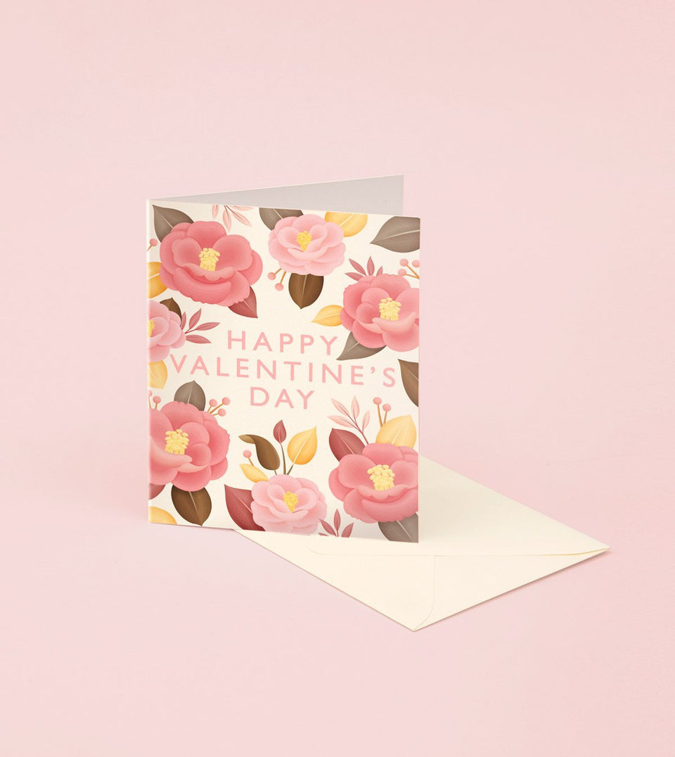 CAMELLIA JAPONICA VALENTINE'S DAY CARD - GM24 - Clap Clap