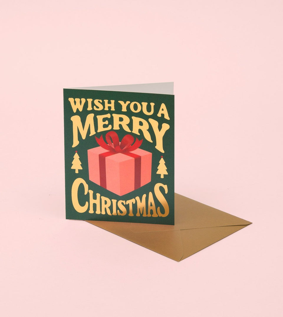 CHRISTMAS PRESENT CARD - DEEP GREEN - GH23 - Clap Clap