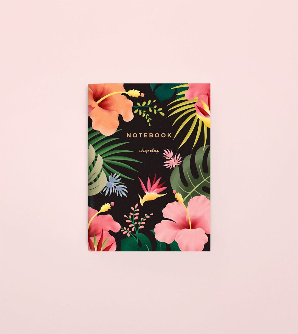 HAWAIIAN POCKET NOTEBOOK - BLACK - NP03 - Clap Clap