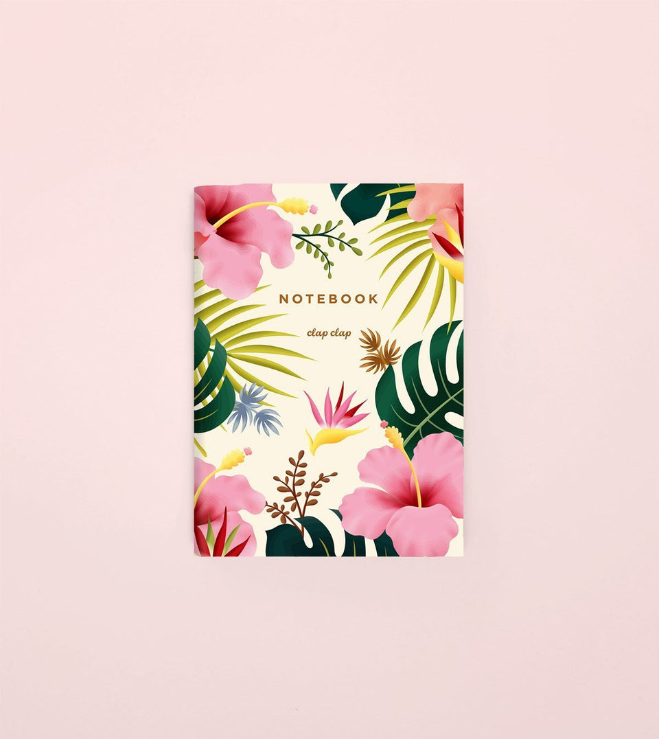 HAWAIIAN POCKET NOTEBOOK - CREAM - NP04 - Clap Clap