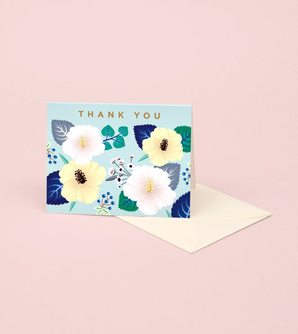 HIBISCUS THANK YOU CARD - GT05 - Clap Clap