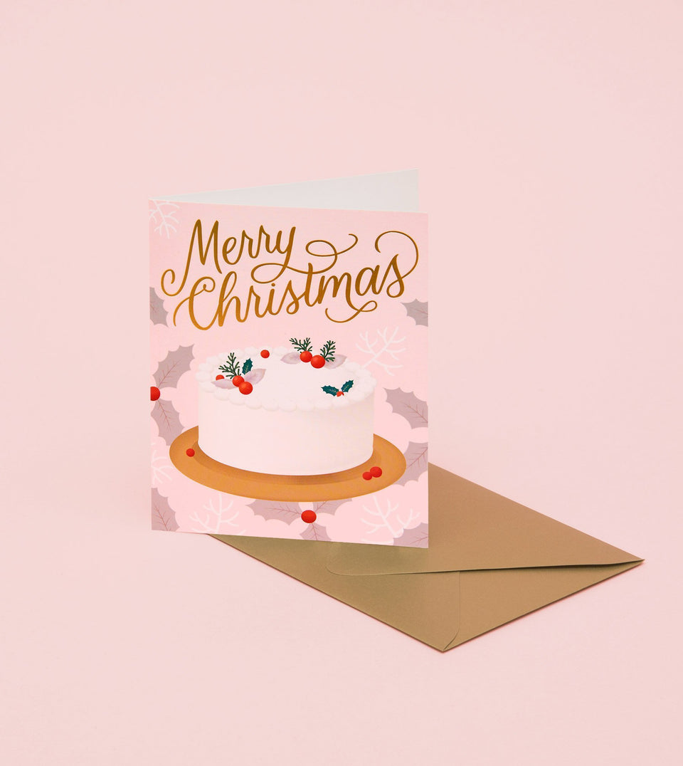 HOLIDAY DESSERT CARD - PINK - GH27-K - Clap Clap