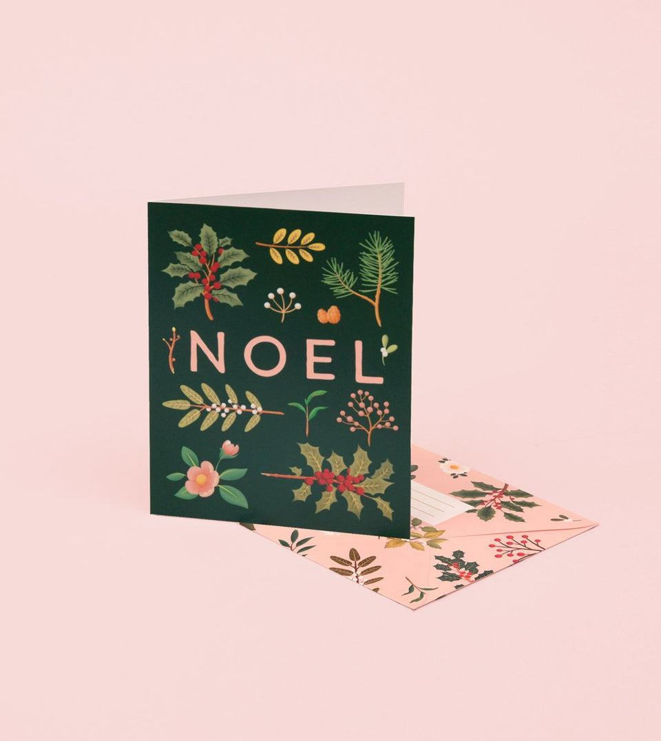 HOLIDAY PLANTS NOEL CARD - DEEP GREEN - GH22 - Clap Clap