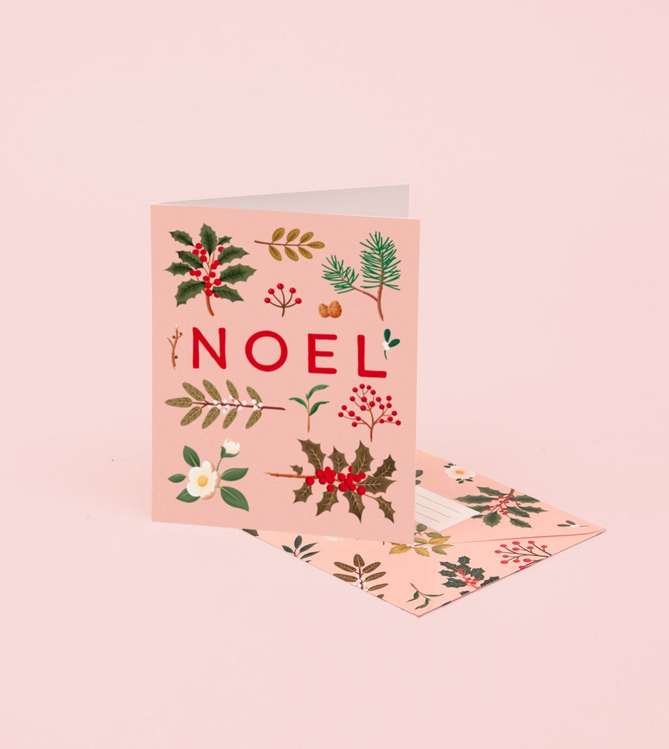 HOLIDAY PLANTS NOEL CARD – PINK - GH21 - Clap Clap
